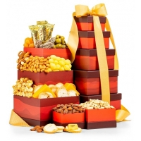 Cheese and Nuts Snack Tower