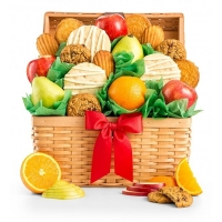 Fresh Fruit and Cookies Basket